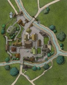 Fantasy Map Making, Fantasy City Map, Fantasy World Map, Fantasy Places, Dungeons And Dragons Homebrew, D&d Dungeons And Dragons, Pathfinder Maps, Map Sketch, Village Map
