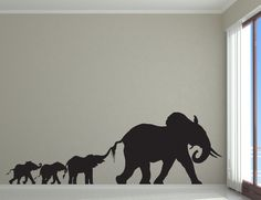 Elephant Family Mom or Dad Baby Sibling by VinylWallAdornments