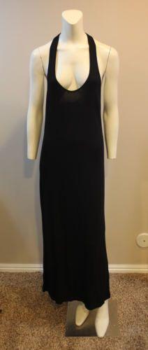 ASOS-Sexy-Tank-Maxi-Dress-Black-Sleeveless-UK-8-US-4-Small