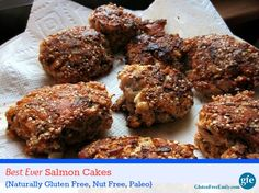 Gluten-Free Best Ever Salmon Cakes from GFE {Grain Free, Dairy Free, Nut Free, Paleo}