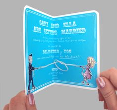 This is a very, very cute wedding invite. Click through for animated GIF. :)