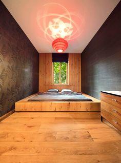 Schlafzimmer Ideen, Bett In Einem Podest Eingebaut