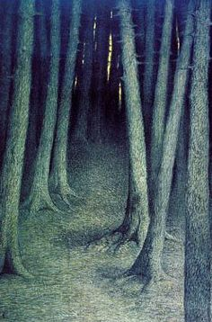 . Carl Langheim - The Wood, 1896, San Francisco museum of Fine Art.