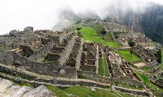 Machu Picchu - neblina começa a se desfazer