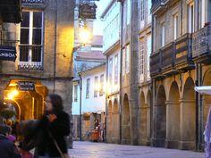 Rua Nova, Santiago de Compostela, España.