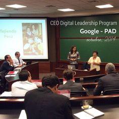 Tejiendo Perú en el CEO Leadership Digital Program de Google y PAD en Lima, Perú!