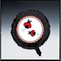 Metallic Balloon Ladybug Fancy/Case of 12