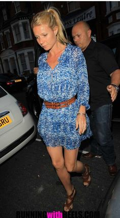isabel marant dress...love her ponytail too
