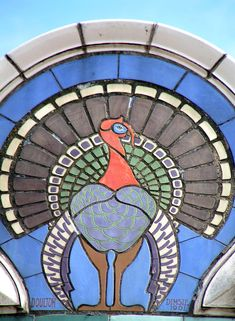 Doulton panel on the Turkey Cafe, Leicester, a very good site to learn abour english tiles Azulejos Art Nouveau, Art Nouveau Tiles, Art Nouveau Tattoo, Clay Tiles, Name Art, Animal Crafts, Beautiful Buildings, English, Leicester