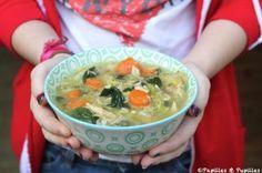Soupe aux légumes et au poulet façon Jamie Oliver