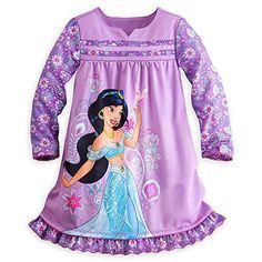 Disney Store Jasmine Aladdin Long Sleeve Nightshirt Night...