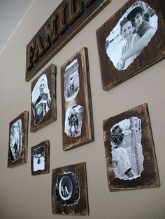 Mod Podge Family Photo Plaques- Crafts by Amanda