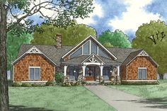 Find your dream contemporary style house plan such as Plan which is a 3415 sq ft, 3 bed, 3 bath home with 0 garage stalls from Monster House Plans. Contemporary Style Homes, Contemporary House Plans, One Level House Plans, Ranch Exterior, House Plans 3 Bedroom, Country Style House Plans, Farmhouse Style, Monster House Plans, Floor Plan Layout
