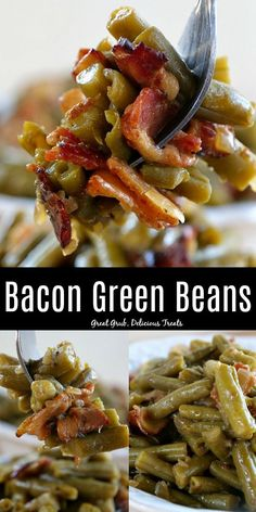 Bacon Green Beans is super delicious, loaded with bacon, and is the perfect side dish to many meals. Bacon Green Beans is super delicious, loaded with bacon, and is the perfect side dish to many meals. Side Dishes For Ribs, Side Dishes For Salmon, Steak Side Dishes, Side Dishes For Chicken, Dinner Side Dishes, Thanksgiving Side Dishes, Dinner Sides, Vegetable Side Dishes, Side Dishes Easy
