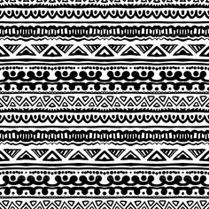 Ethnic Pattern In Black And White With Ornamental Stripes Texture For Web Print Wallpaper Home Decor Summer Fall