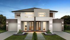 House Roof Design, 2 Storey House Design, Duplex House Design, Modern House Design, Low Country Homes, Double House, Duplex House Plans, Minimalist House Design, Storey Homes