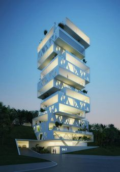 The Cube Tower @ Beirut, Lebanon by Orange Architects
