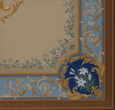 Pigmentti are award-winning decorative artists, specialising in bas-relief sculpture, trompe l'oeil murals, painted decoration, gilding and gold leaf. Ceiling Painting, Wall Painting Decor, Ceiling Murals, Ornament Drawing, Painted Cupboards, Islamic Art Calligraphy, Modern Wall Decor, Classical Art, Acanthus
