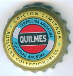Quilmes Bottle Cap Bottle Cap Table, Bottle Top, Bottle Cap Art, Bottle Cap Crafts, Beer Bottle Caps, Bottle Caps For Sale, Argentina South America, Crown, Frames