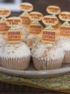 Homemade Horchata and Horchata cupcakes