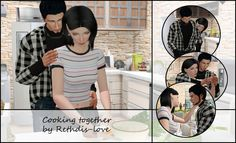 Sims 4 CC's - The Best: Cooking together by rethdis-love