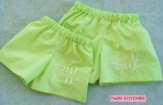 Boys Gingham Monogram Swimsuit by TwinStitchesMonogram on Etsy, $35.00