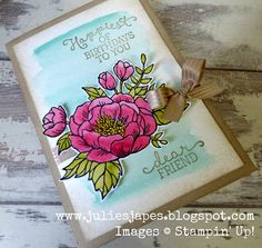 Julie Kettlewell - Stampin Up UK Independent Demonstrator - Order products 24/7: Last Coffee and Card