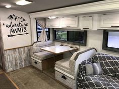 Last year we bought our first RV. We've had the RV bug for quite some time and we had looked at several Class A motorhomes. It needed a little TLC, so we did this! Diy Camper, Camper Ideas, Camper Van, Popup Camper, Camper Interior, Rv Cabinets, Trailer Decor, Diy Rv, Camper Makeover