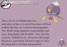 Pokemon personality -drifblim