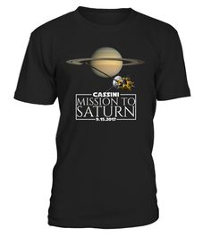 Celebrate Cassini's grand finale on September 15, 2017 with this Cassini Space shirt for women, men, and kids.  This space t-shirt is the perfect gift for anyone who has been inspired by the NASA mission to Saturn and the outer space. Design features Cassini with rings of Saturn on a black space shirt.