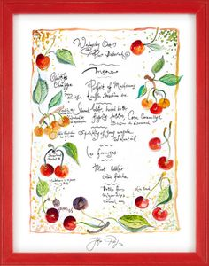 Signed, Hand-Drawn Menu by Jacques Pepin: Pour Deborah