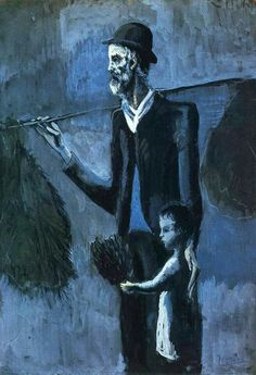 Picasso, Seller of gul, 1902