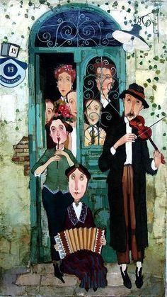 Musicians on a threshold by Otar Imerlishvili