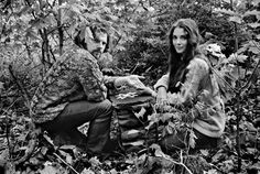 Van Morrison and Janet Planet in Woodstock, 1969, by Elliott Landy  x - the way young lovers do