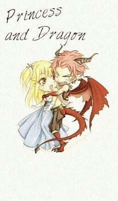 Le dragon garde la princesse .