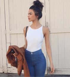 Bodysuit + skinny denim