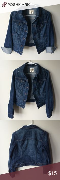 Old Navy dark wash jean jacket size small Old Navy jean jacket in dark wash. Size small. Great condition. Old Navy Jackets & Coats Jean Jackets