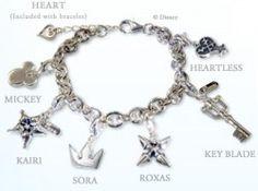 Cute Kingdom Hearts charm bracelet