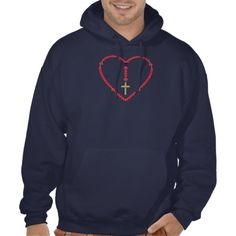Rosary (Red and Blue Roses) Pullover. SOLD! LOTS MORE WHERE THIS CAME FROM THO!  $56.55