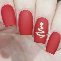 Simple Nail Art Designs That You Can Do Yourself – Your Beautiful Nails Red Christmas Nails, Xmas Nails, Christmas Nail Designs, Holiday Nails, Fun Nails, Christmas Holiday, Holiday Nail Colors, Red Nail Art, Christmas Nail Art
