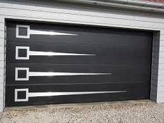 New Garage Door Ideas Mid Century Ideas Steel Gate Design, Main Gate Design, House Gate Design, Garage Door Design, Contemporary Garage Doors, Modern Garage Doors, Best Garage Doors, Dream Garage, Gate Designs Modern