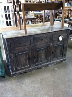 distressed console chest