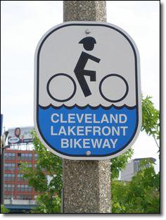 Lakefront Bikeway route marker