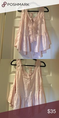 Free People XS top Blush pink XS Free People blouse. Worn once, very cute! Free People Tops Tank Tops