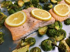 Roasted Salmon and Brussel Sprouts | The Hungry Lightweight