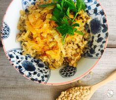 Mujaddara, czyli ryż z soczewicą - VeganLove - blog wegański z przepisami - wege przepisy
