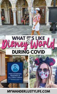 Visiting Disney World During the Pandemic: Everything You're Eager to Know | Disney World in 2020, what it's like to visit disney world right now. #mywanderlustylife #travelin2020 #disneyworld #disney #epcot #hollywoodstudios #disneysprings #waltdisneyworld #disney2020 #florida #orlando #themeparks
