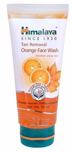 Himalaya Herbals Tan Removal Orange Face Wash Visibly Reduces Tan