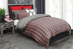 Yorkshire Bedding by Alamode Yorkshire, Stag Cushion, Master Bedroom, Bedroom Decor, Bed Styling, Bedding Collections, Comforter Sets, Decoration, Yurts
