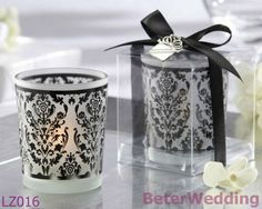 Tradizioni del damasco - cerimonia nuziale del supporto di candela della luce del tè di vetro glassato LZ016 che decoration_Wedding i ricordi di Gifts_Wedding